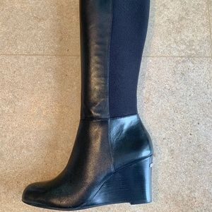 Michael Kors, Bromley Wedge Boots, Black, Size 7